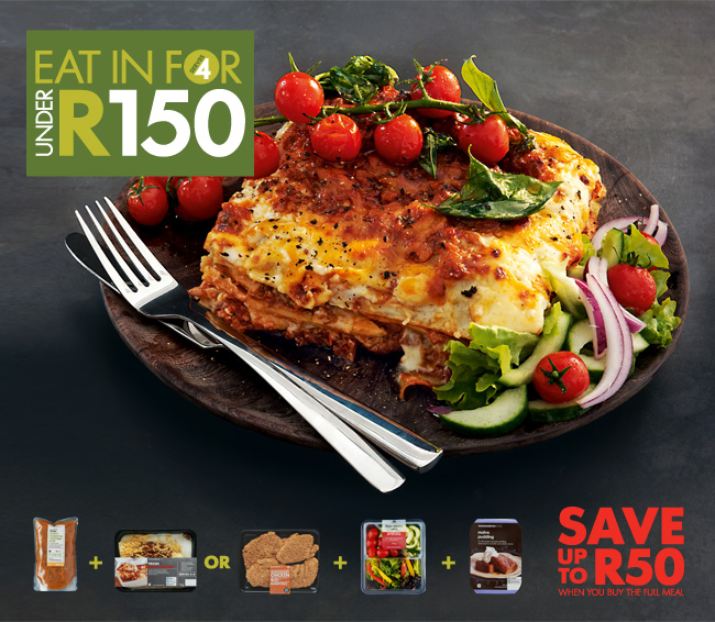 Eat in for 4 under R150